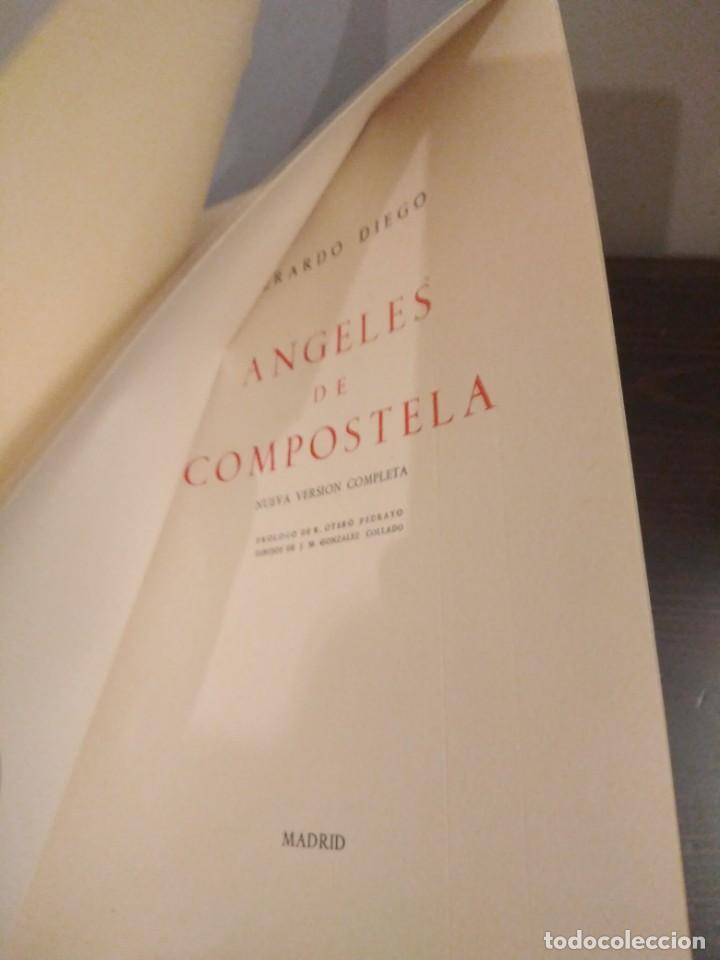 Libros de segunda mano: GERARDO DIEGO - ANGELES DE COMPOSTELA - NUEVA VERSIÓN COMPLETA 1961 - Foto 3 - 142321274