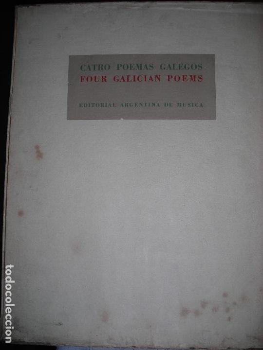 Libros de segunda mano: CATRO POEMAS GALEGOS LUIS SEOANE JULIÁN BAUTISTA LORENZO VARELA TIRADA DE 100 EJEMPLARES - Foto 5 - 143185698