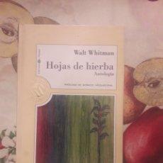Livres d'occasion: WALT WHITMAN. HOJAS DE HIERBA.. Lote 143807454