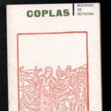 Libros de segunda mano: COPLAS, RODRIGO DE REYNOSA. Lote 143952940