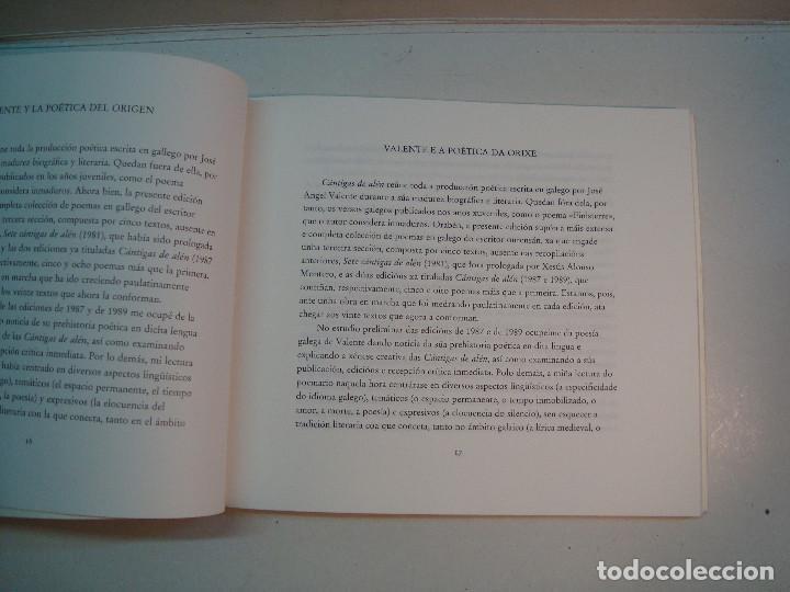 Libros de segunda mano: Lote Jose Angel Valente (4 libros) - Foto 10 - 144293350