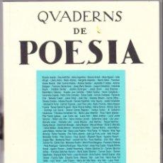 Libros de segunda mano: QUADERNS DE POESIA - NOSTRE CLUB - LES PLANES - SETEMBRE 1996. Lote 144537938