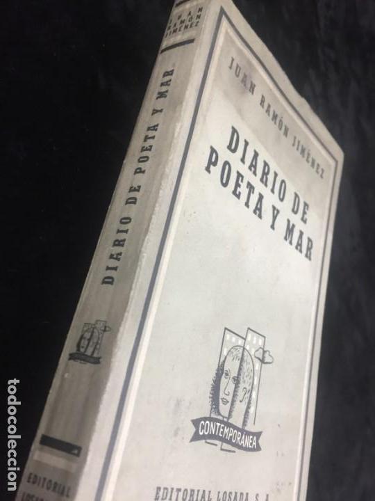 Libros de segunda mano: JUAN RAMÓN JIMÉNEZ diario de poeta y mar 1957 LOSADA - Foto 2 - 144695838