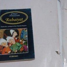 Libros de segunda mano: RUBAIYAT - OMAR KHAYYAM -. Lote 175948058