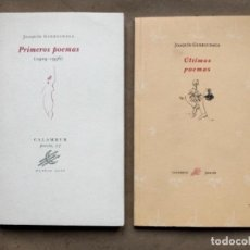 Libros de segunda mano: JOAQUÍN GURRUCHAGA - PRIMEROS POEMAS (1939-1936) Y ÚLTIMOS POEMAS. 2 LIBROS. CALAMBUR POESÍA.. Lote 146114378