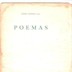 Libros de segunda mano: POEMAS. ANGEL GAZTELU. CUADERNOS ESPUELA DE PLATA. LA HABANA, CUBA. 1940. . Lote 146994006
