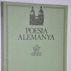 Libros de segunda mano: POESIA ALEMANYA, VER TARIFAS ECONOMICAS ENVIOS. Lote 147215206