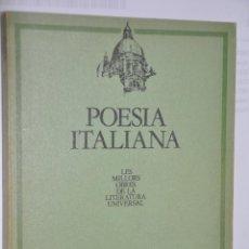 Libros de segunda mano: POESIA ITALIANA, VER TARIFAS ECONOMICAS ENVIOS. Lote 147215882