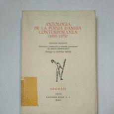 Libros de segunda mano: ANTOLOGIA DE LA POESIA DANESA CONTEMPORANEA (1890-1978). ADONAIS 373 - 374. RIALP. TDK359. Lote 147574106