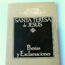 Libros de segunda mano: SANTA TERESA DE JESUS - POESÍAS Y EXCLAMACIONES - EDICIONES 29 - COL. GRANDES AUTORES. Lote 147744734