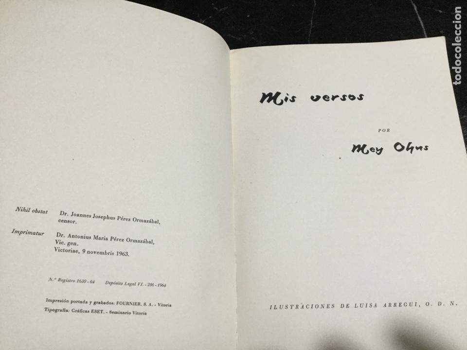 Libros de segunda mano: MIS VERSOS MAY OHNS EDICIONES LESTONAC 1964 - Foto 3 - 147784049
