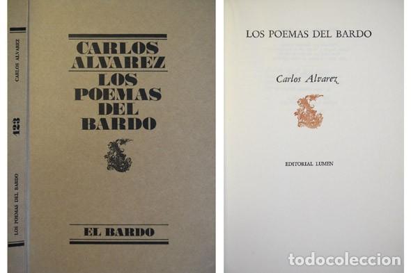 ÁLVAREZ, CARLOS. LOS POEMAS DEL BARDO. 1977 [«EL BARDO»]. (Libros de Segunda Mano (posteriores a 1936) - Literatura - Poesía)