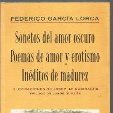 Federico Garcia Lorca Sonetos Del Amor Oscuro Vendido En