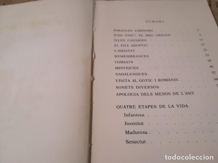 Libros de segunda mano: Fruits de tardor. Cent sonets - Josep Serrat i Argemí - en català - Foto 3 - 148577910