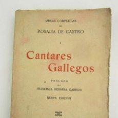 Libros de segunda mano: CANTARES GALLEGOS, ROSALÍA DE CASTRO, EDITORIAL PÁEZ, MADRID. 20X13CM. Lote 148743382