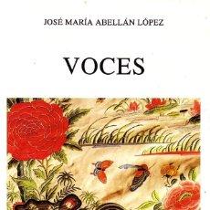 Libros de segunda mano: VOCES. ABELLAN LOPEZ,JOSE MARIA. PO-574.. Lote 151488673