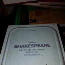 Libros de segunda mano: S30//SONETOS//SHAKESPEARE. Lote 150005628