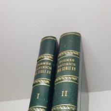 Libros de segunda mano: POEMES SATIRICS DEL SEGLE XV.ANDRES ESTELLES ,JOSEP PALACIOS.C 2 TOMOS. Lote 150230885