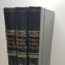 Libros de segunda mano: POESIA RELIGIOSA DEL SEGLE XVI. Lote 150232130