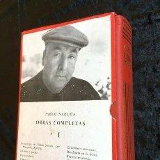 Libros de segunda mano: PABLO NERUDA - OBRAS COMPLETAS - LOSADA - PIEL CON ESTUCHE - FOTOGRAFIAS . Lote 151160914