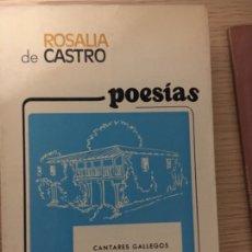 Libros de segunda mano: ROSALIA DE CASTRO POESIAS COMPLETAS. Lote 151206357