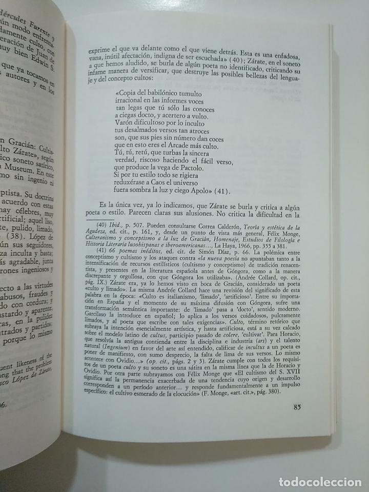 Libros de segunda mano: INTRODUCCION A LA OBRA POETICA DE LOPEZ DE ZARATE. Mª TERESA GONZALEZ DE GARAY. TDK364 - Foto 2 - 151228982