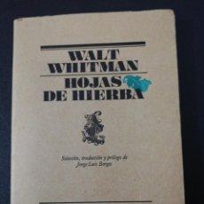 Libros de segunda mano: WALT WHITMAN, HOJAS DE HIERBA . Lote 152048066