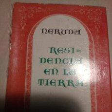 Libros de segunda mano: RESIDENCIA EN LA TIERRA. NERUDA. MINI LIBRO. TORRES AGÜERO.MINIATURAS DEL ANDARÍN. SEGUNDA EDICIÓN 1. Lote 152206448