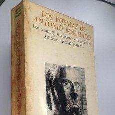 Libros de segunda mano: LOS POEMAS DE ANTONIO MACHADO. LOS TEMAS. EL SENTIMIENTO Y LA EXPRESION. ANTONIO SANCHEZ BARBUDO. Lote 153112390