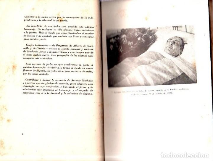 Libros de segunda mano: ANTOLOGIA DE GUERRA. VERSO Y PROSA. ANTONIO MACHADO. EDICION HOMENAJE, LA HABANA, 1944. - Foto 3 - 153786142