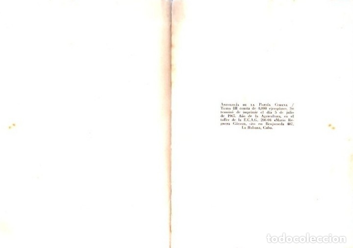 Libros de segunda mano: ANTOLOGIA DE LA POESIA CUBANA. OBRA EN TRES TOMOS. JOSE LEZAMA LIMA. 4000 EJEMPLARES, 1965. - Foto 31 - 153798614