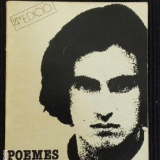 Libros de segunda mano: POEMES I CANÇONS LLUIS LLACH. EDITORIAL ARTS GRAFIQUES SOLER 1980.. Lote 154214538