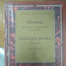 Libros de segunda mano: ANTOLOGÍA POÉTICA. MEMORIA RAFAEL DE PENAGOS. Lote 154820926