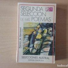 Libros de segunda mano: LIBRO SEGUNDA SELECCIÓN DE MIS POEMAS - RAMÓN DE GARCIASOL - PROLOGO DE ANTONIO BUERO VALLEJO. Lote 155333794