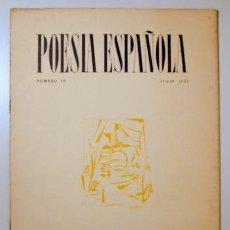 Libros de segunda mano: (CLEMENTINA ARDERIU, TOMÀS GARCÉS, ORY) - POESÍA ESPAÑOLA. NÚM 19 - MADRID 1953. Lote 157215104