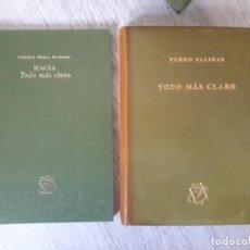 Libros de segunda mano: TODO MÁS CLARO DE PEDRO SALINAS . PRUEBA DE AUTOR SOLO 15 EJEMPLARES. Lote 157772030