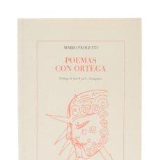 Libros de segunda mano: POEMAS CON ORTEGA - PAOLETTI, MARIO. Lote 158629361