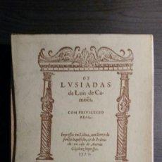 Libros de segunda mano: OS LUISIADAS. LUIS DE CAMOES. EDICIÓN BILINGUE.. Lote 158810850