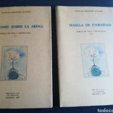 Libros de segunda mano: CANCIONES SOBRE LA ARENA Y SEMILLA DE ETERNIDAD RIMAS DE VIDA Y ESPERANZA POR SANTIAGO MARTÍNEZ ÁLVA. Lote 159700973