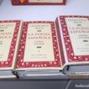 Libros de segunda mano: LA POESIA ESPAÑOLA , FRANCISCO RICO ANTOLOGIA COMENTADA , 3 TOMOS CIRCULOS DE LECTORES . Lote 160519450