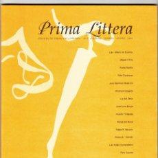 Libros de segunda mano: REVISTA PRIMA LITTERA NÚMERO 0 VERANO/OTOÑO 1996. Lote 160730870
