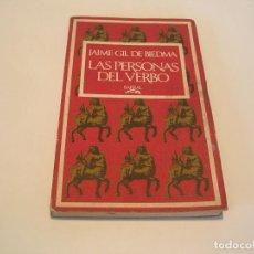 Libros de segunda mano: JAIME GIL DE BIEDMA. LAS PERSONAS DEL VERBO. PRIMERA EDICIÓN. Lote 160949182