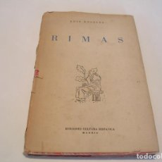 Libros de segunda mano: LUIS ROSALES. RIMAS. Lote 160954262