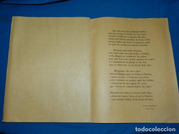 Libros de segunda mano: (M) JOAN BROSSA - SEXTINA EN EL MUSEU DE JOGUETS DE FIGUERES 1988 - EDITAT EN BRAILLE - Foto 4 - 161222870