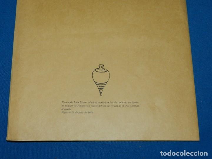 Libros de segunda mano: (M) JOAN BROSSA - SEXTINA EN EL MUSEU DE JOGUETS DE FIGUERES 1988 - EDITAT EN BRAILLE - Foto 5 - 161222870
