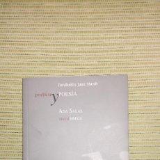 Libros de segunda mano: LENGUA DEL ALMA, ADA SALAS, FUNDACIÓN JUAN MARCH. Lote 162067414