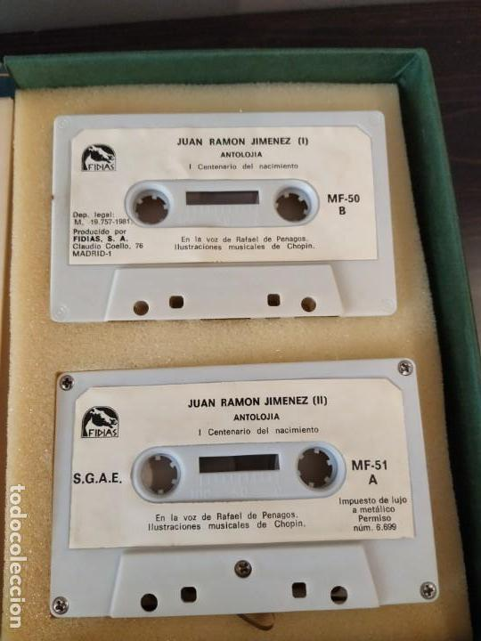 Libros de segunda mano: JUAN RAMON JIMENEZ ANTOLOGIA LIBRITO + 2 CASETTE EN ESTUCHE VOZ RAFAEL PENAGOS - Foto 4 - 162598166