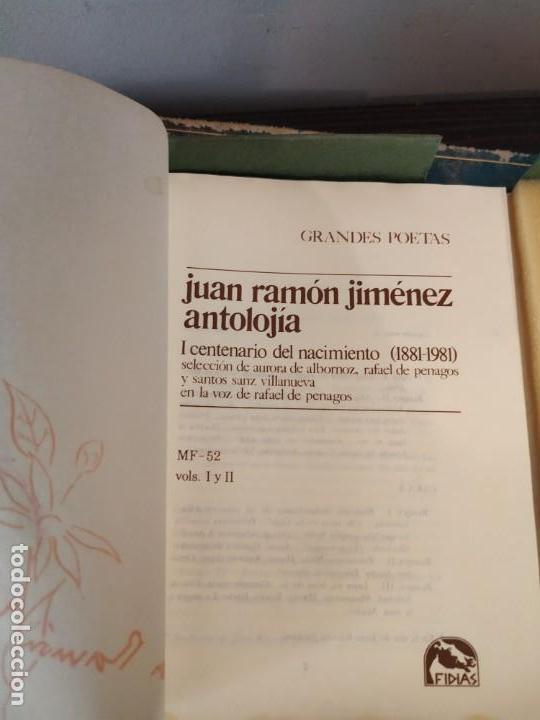 Libros de segunda mano: JUAN RAMON JIMENEZ ANTOLOGIA LIBRITO + 2 CASETTE EN ESTUCHE VOZ RAFAEL PENAGOS - Foto 5 - 162598166