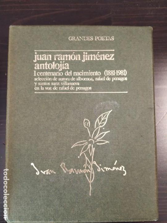 JUAN RAMON JIMENEZ ANTOLOGIA LIBRITO + 2 CASETTE EN ESTUCHE VOZ RAFAEL PENAGOS (Libros de Segunda Mano (posteriores a 1936) - Literatura - Poesía)