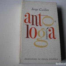 Libros de segunda mano: JORGE GUILLÉN,. ANTOLOGÍA.- PLAZA JANÉS, 1975, 1ª EDC. PRÓLOGO MANUEL MANTERO. Lote 162928662